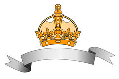 Selo com coroa e fita ilustração do vetor