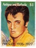 Selo com Elvis Presley imagem de stock