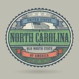 Selo com o Estados Unidos da América do texto, Caro norte do vintage ilustração do vetor