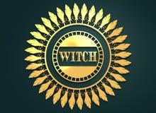 Selo com texto da bruxa Fotografia de Stock