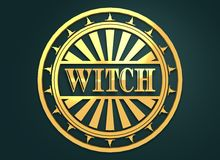 Selo com texto da bruxa Imagem de Stock