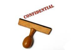 Selo confidencial imagens de stock royalty free