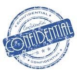 Selo confidencial ilustração stock