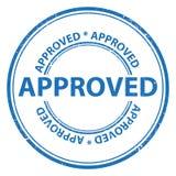 Selo da aprovação ilustração do vetor