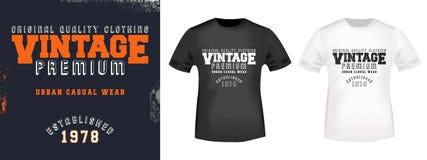 Selo da cópia da camisa do vintage t Imagem de Stock