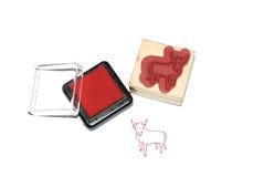 Selo da cabra da cor imagem de stock royalty free