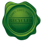Selo da cera com selo recicl Fotografia de Stock