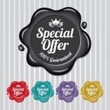 Selo da cera da oferta especial, vintage do selo da cera Fotos de Stock Royalty Free