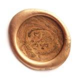 Selo da cera do ouro fotografia de stock royalty free