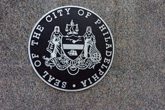Selo da cidade do marcador à terra de Philadelphfia Foto de Stock