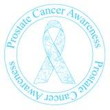 Selo da conscientização do câncer da próstata ilustração do vetor