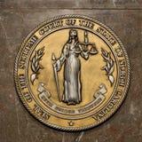 Selo da corte suprema de North Carolina Foto de Stock