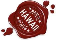 Selo da etiqueta do feito em Havaí ilustração stock