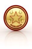Selo da excelência de cinco estrelas Imagens de Stock
