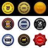 Selo da garantia de garantia Fotos de Stock