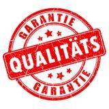 Selo da garantia de qualidade do idioma alemão ilustração do vetor