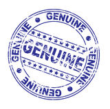 selo da tinta: genuíno (vetor) ilustração stock