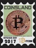 Selo de Bitcoin Fotos de Stock