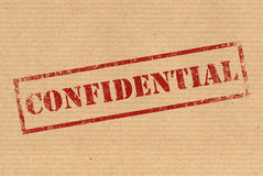 Selo de borracha confidencial da tinta Imagens de Stock Royalty Free