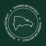 Selo de borracha da textura branca do giz com Dominican ilustração royalty free