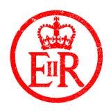 Selo de borracha da tinta do emblema do reino do ` s de Elizabeth ilustração stock