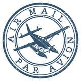 Selo de correio aéreo ilustração stock