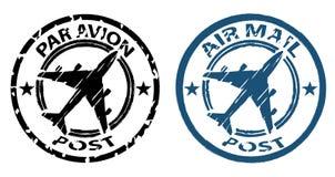 Selo de correio do ar ilustração royalty free
