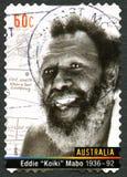 Selo de Eddie Koiki Mabo Australian Postage foto de stock