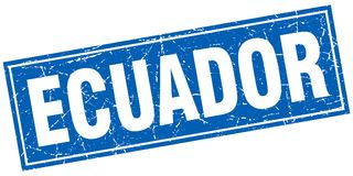 Selo de Equador ilustração royalty free