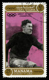 Selo de Jim Thorpe Olympic Champion Postage foto de stock