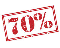 selo de 70 por cento no fundo branco Imagens de Stock Royalty Free