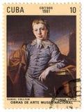Selo de porte postal. Foto de Stock