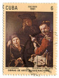 Selo de porte postal. Foto de Stock Royalty Free