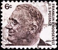 Selo de porte postal com Franklin Roosevelt Foto de Stock Royalty Free