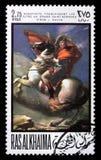 Selo de porte postal com Napoleon Imagens de Stock Royalty Free