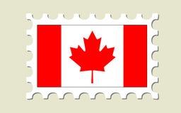 Selo de porte postal da bandeira de Canadá Foto de Stock Royalty Free
