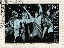 Selo de porte postal de Abba Imagens de Stock