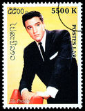 Selo de porte postal de Elvis Presely Fotos de Stock