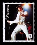 Selo de porte postal de Elvis Presely Fotografia de Stock