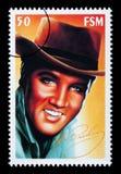 Selo de porte postal de Elvis Presley Foto de Stock Royalty Free