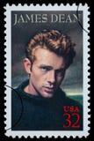 Selo de porte postal de James Dean Fotografia de Stock Royalty Free