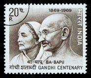 Selo de porte postal de Mohandas Karamchand Gandhi