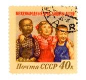 Selo de porte postal de Rússia do vintage Fotografia de Stock