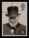 Selo de porte postal de Winston Churchill Fotos de Stock
