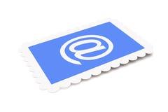 Selo de porte postal do email Imagens de Stock