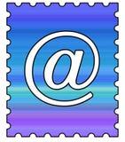 Selo de porte postal do email ilustração do vetor