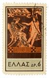 Selo de porte postal do vintage Imagens de Stock