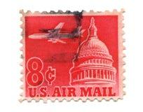 Selo de porte postal dos E.U. no fundo branco Imagem de Stock