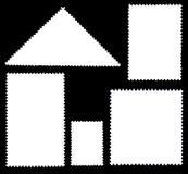 Selo de porte postal dos espaços em branco ilustração royalty free