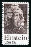 Selo de porte postal dos EUA 15c Einstein Imagens de Stock